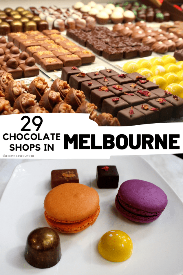 Melbourne Chocolate guide pinterest pin 1