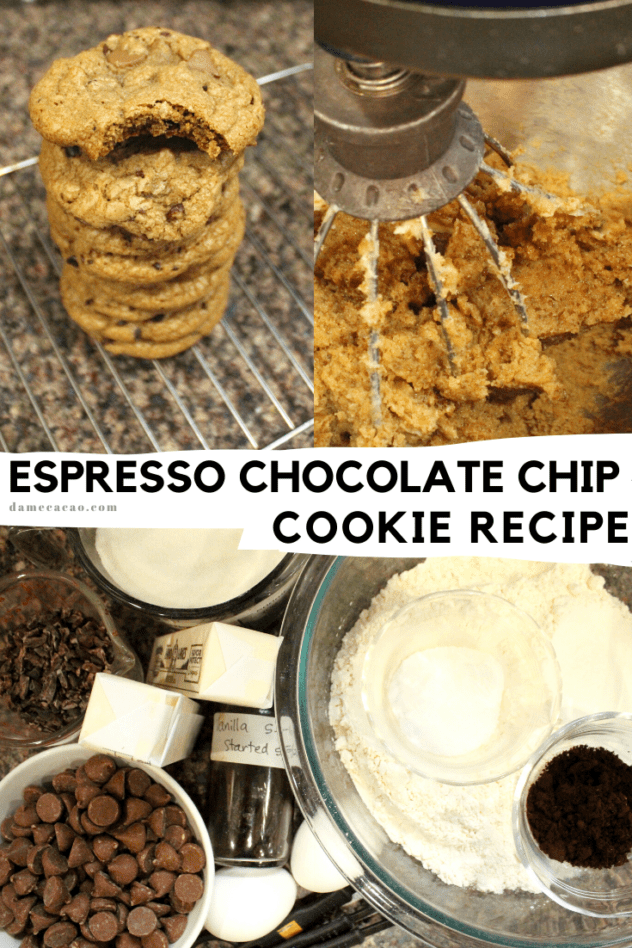 coffee cookie recipe pinterest pin 1