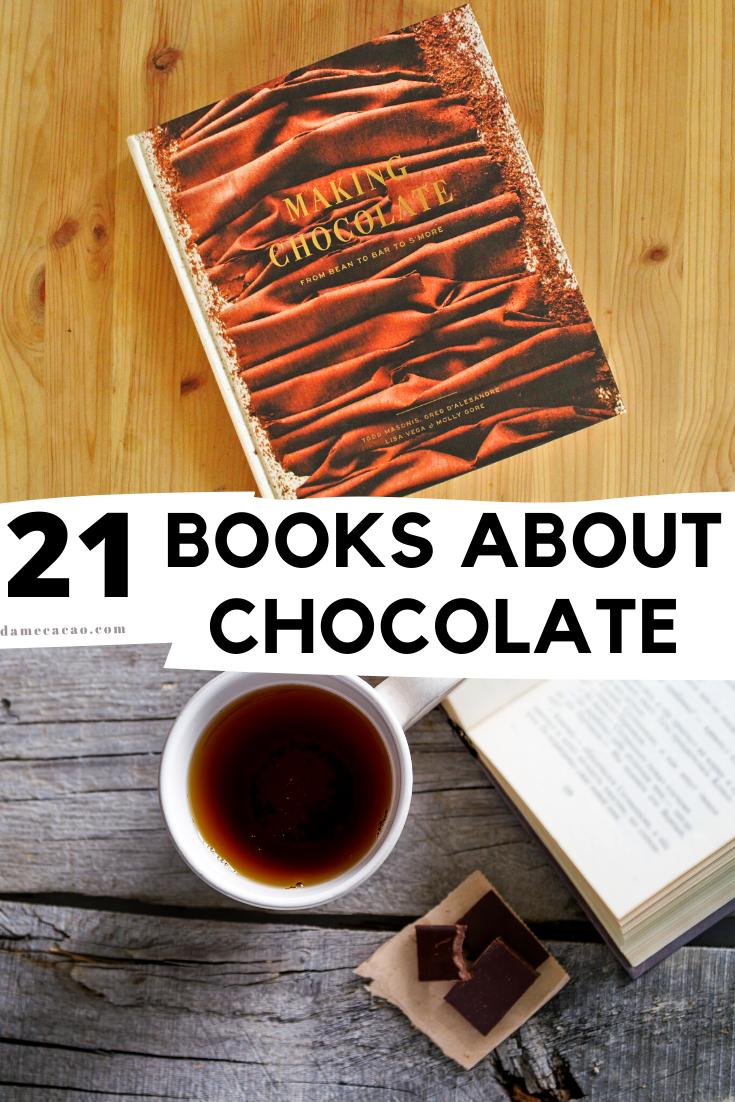 Chocolate Books pinterest pin 1