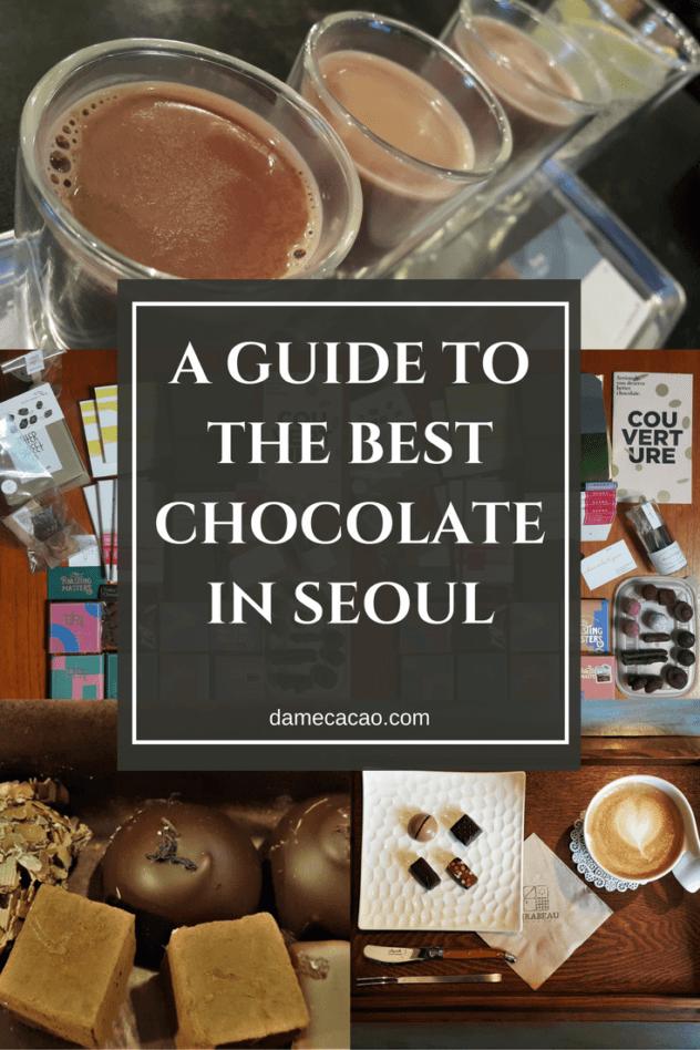 Seoul chocolate pinterest pin 1